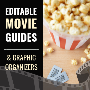 Spanish movie guides and graphic organizers