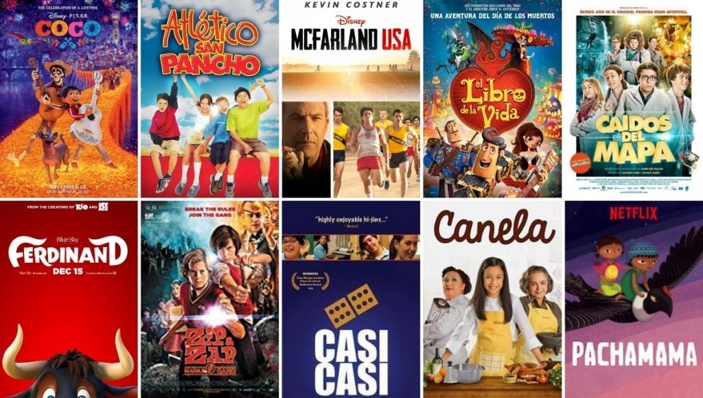 Spanish movies for middle school