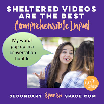 Using Sheltered Videos for Comprehensible Input