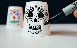 Day of the Dead Mask Cups