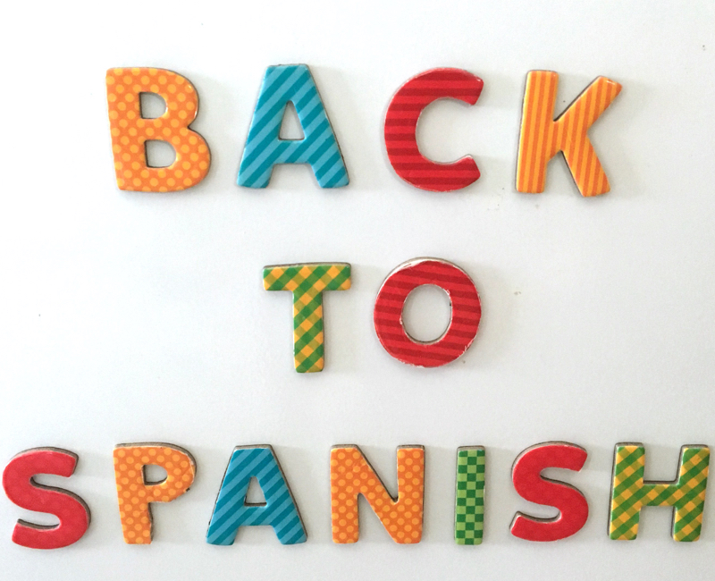 Back to Spanish Class: 1st Week of School