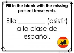 Present Tense Boom Cards
