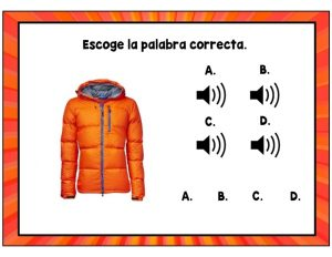 Spanish Clothing Boom Cards