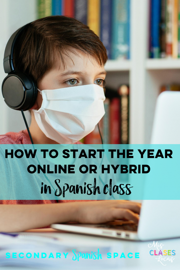 Spanish class distance learning