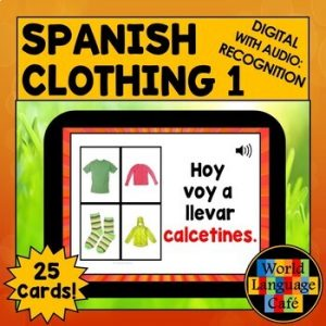 Spanish Boom Cards Clothing