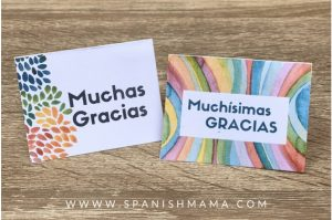 engaging and free Thank you cards in Spanish