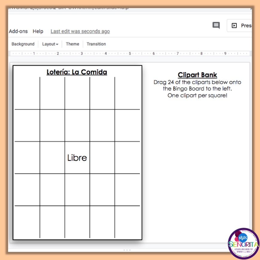 how to make digital bingo - write directions for the clipart