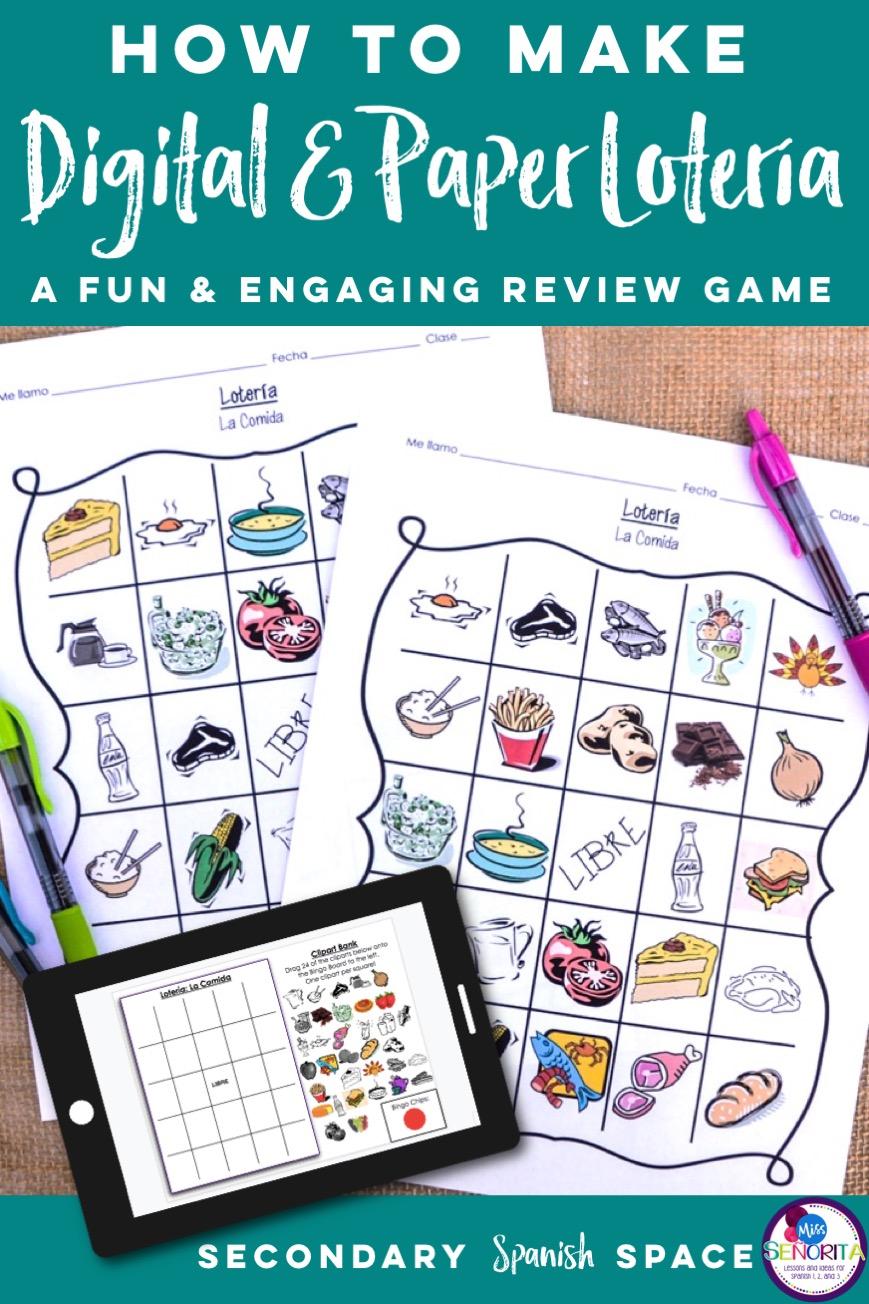 pin - How to make Digital & Paper Bingo