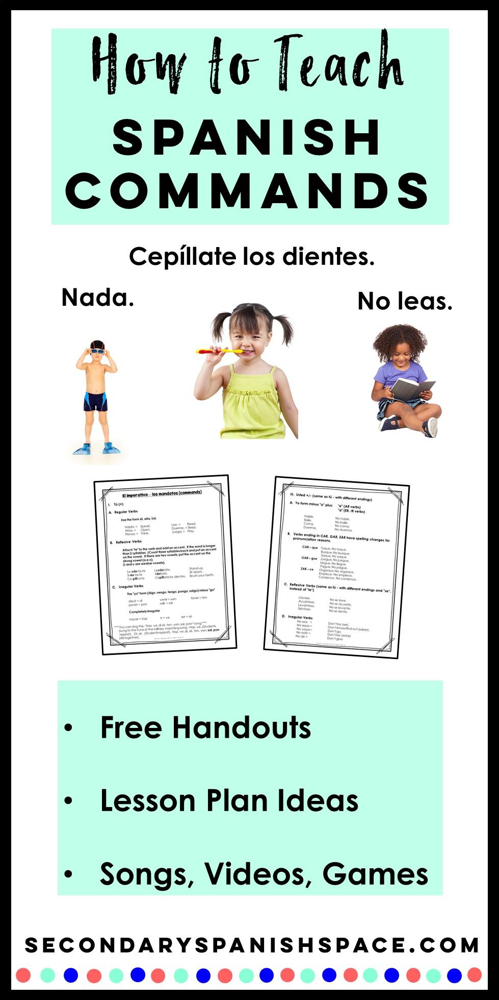 Spanish Commands Lesson Plans