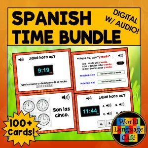 Spanish Time Boom Cards