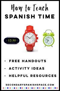 How to Teach Spanish Time