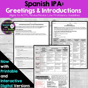 Spanish Greetings IPA Introductory Conversation